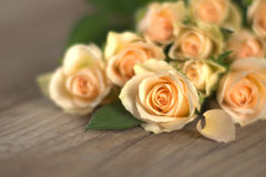 Bouquet of fresh yellow roses Royalty Free Stock Images