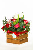 Bouquet with fruit and flowers Royalty Free Stock Images