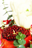 Bouquet with fruit and flowers Royalty Free Stock Photography