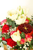 Bouquet with fruit and flowers Stock Photos