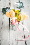 Bouquet of fruits for Valentine`s day Royalty Free Stock Photography