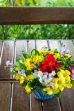 Bouquet in garden Royalty Free Stock Images