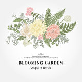 Bouquet with a garden with flowers. Royalty Free Stock Images