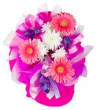 Bouquet with gerbera and chrysanthemum Royalty Free Stock Image