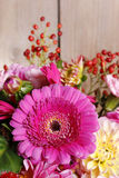 Bouquet of gerbera and dahlia flowers Stock Images