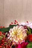 Bouquet of gerbera and dahlia flowers Royalty Free Stock Photography