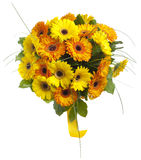 Bouquet of gerbera flowers. Isolated on white Stock Photo