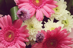 Bouquet with gerbera flowers Stock Photography