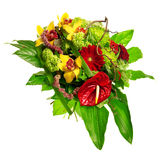 Bouquet of gerberas, lily and anthurium royalty free stock photo