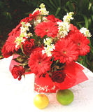 Bouquet of gerberas and roses Royalty Free Stock Photography