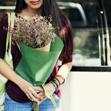 Bouquet Girl Alone Calm Flower Concept Stock Photography