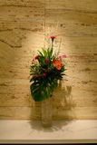 Bouquet in glass vase Royalty Free Stock Image
