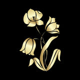 Bouquet of golden tulips Royalty Free Stock Image