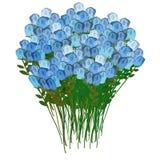 Bouquet grand des roses bleues, pour une réunion ou une célébration Vecto Images libres de droits