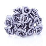 Bouquet of gray roses on a white background Stock Photography