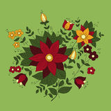 Bouquet on a green background Royalty Free Stock Image