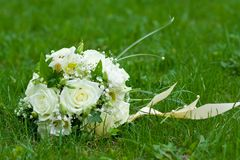 Bouquet on green grass Royalty Free Stock Images