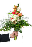 Bouquet in hand Royalty Free Stock Images