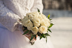 Bouquet in hands. Stock Photography