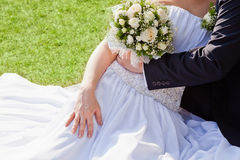 Bouquet in the hands of the bride Stock Image