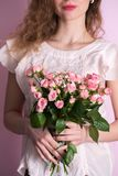 Bouquet in hands, close-up Royalty Free Stock Image
