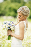 Bouquet in the hands of Stock Photography