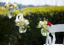 Bouquet of hanging flowers at wedding Royalty Free Stock Images