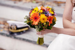 Bouquet and hat Royalty Free Stock Image