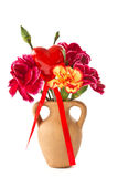 Bouquet with a heart Stock Photography