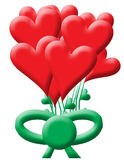 Bouquet of heart balloons Royalty Free Stock Images