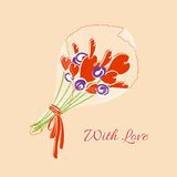 Bouquet of hearts Royalty Free Stock Photography