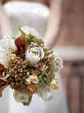 A bouquet held by a bride Royalty Free Stock Images