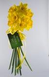 Bouquet heureux de jonquille du jour de mère Images libres de droits