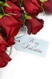 Bouquet heureux de jour de valentines des roses rouges Photos libres de droits