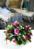 Bouquet in hospital room stock photos