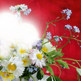Bouquet of illuminated light of love Stock Photography