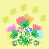 Bouquet imaginary flowers Royalty Free Stock Image