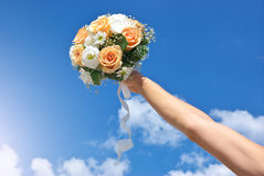 Bouquet In Hand Stock Photo