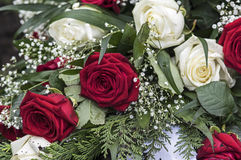 Bouquet In Red And White Royalty Free Stock Images