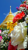 Bouquet jar in front of Stupa Royalty Free Stock Photo