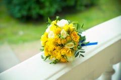 Bouquet jaune de mariage Photo stock