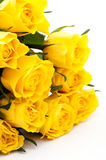 Bouquet jaune de roses Photo libre de droits