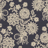 Bouquet. Lace Seamless Pattern. Stock Photos