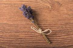 Bouquet of lavender flower on wooden background Stock Photography