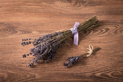 Bouquet of lavender flower on wooden background Royalty Free Stock Photography