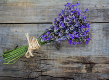 Bouquet of lavender. On the old table Royalty Free Stock Photography
