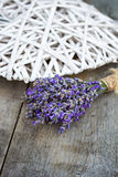 Bouquet of lavender. On the table Royalty Free Stock Photography