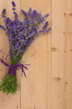 Bouquet of Lavender on Wood Stock Photography