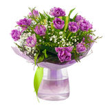 Bouquet of lilac tulips and other flowers. Stock Photo