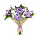 Bouquet of lilac and white orchids Royalty Free Stock Images